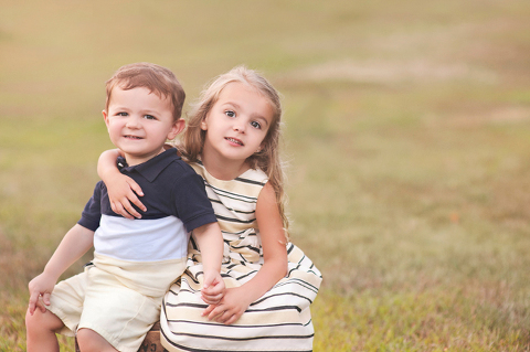brother and sister at long island childrens photography session