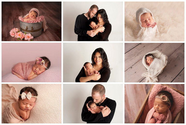 newborn photographer long island new parents with their baby girl